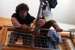 Casey Schmidt with Alex Stowe rigging overhead