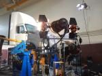 make shift tungsten array with 4K HMI PAR crane mounted.